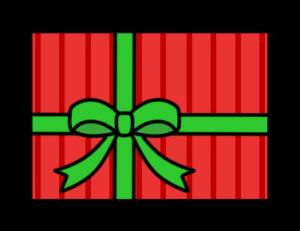 クリスマスプレゼント フリー素材 無料イラスト 赤