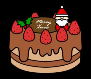 クリスマスケーキ フリー素材 無料イラスト ホールケーキ チョコ