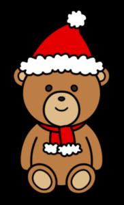 クリスマスベア フリー素材 無料イラスト 茶色