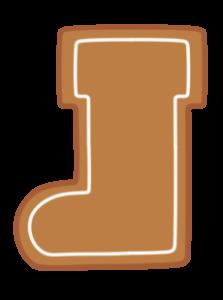 クリスマスクッキー フリー素材 無料イラスト ブーツ