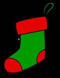 クリスマス 靴下イラスト フリー素材 緑