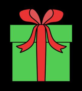 クリスマスプレゼント フリー素材 無料イラスト 緑