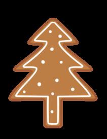 クリスマスクッキー フリー素材 無料イラスト ツリー