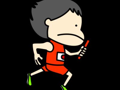 陸上 リレー オリンピック日本代表 フリー素材 男子