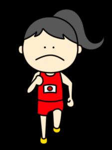 陸上 マラソン オリンピック日本代表 フリー素材 女子