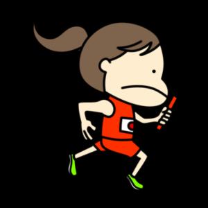 陸上 リレー オリンピック日本代表 フリー素材 女子