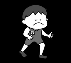 レスリング オリンピック日本代表 白黒フリー素材 男子