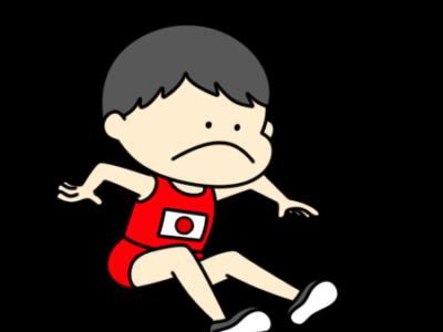 陸上 幅跳び オリンピック日本代表 フリー素材 男子