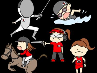 近代五種 オリンピック日本代表 フリー素材 女子
