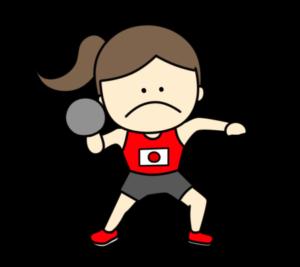 陸上 砲丸投げ オリンピック日本代表 フリー素材 女子