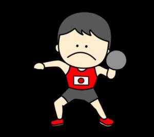 陸上 砲丸投げ オリンピック日本代表 フリー素材 男子
