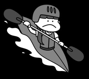 カヌー オリンピック日本代表 白黒フリー素材 女子