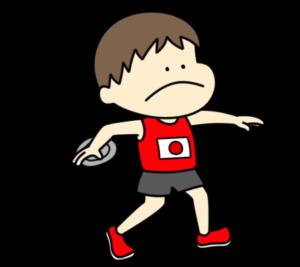 陸上 円盤投げ オリンピック日本代表 フリー素材 男子