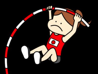 陸上 棒高跳び オリンピック日本代表 フリー素材 女子