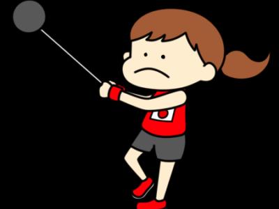陸上 ハンマー投げ オリンピック日本代表 フリー素材 女子