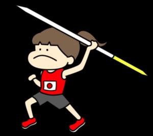 陸上 やり投げ オリンピック日本代表 フリー素材 女子