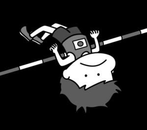 陸上 高跳び オリンピック日本代表 白黒フリー素材 男子