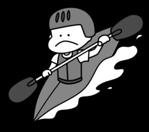 カヌー オリンピック日本代表 白黒フリー素材 男子