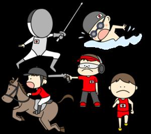 近代五種 オリンピック日本代表 フリー素材 男子