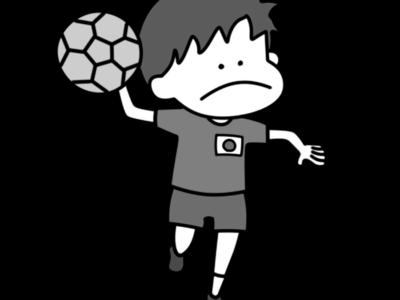 ハンドボール オリンピック日本代表 白黒フリー素材 男子