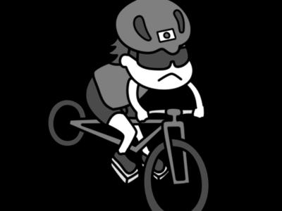 自転車競技 オリンピック日本代表 白黒フリー素材 女子
