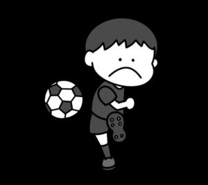サッカー オリンピック日本代表 白黒フリー素材 男子