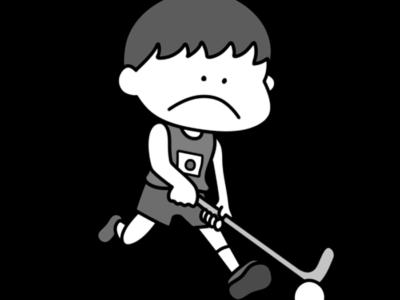 ホッケー オリンピック日本代表 白黒フリー素材 男子