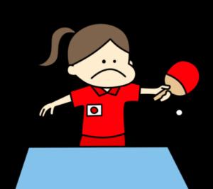 卓球 オリンピック日本代表 フリー素材 女子