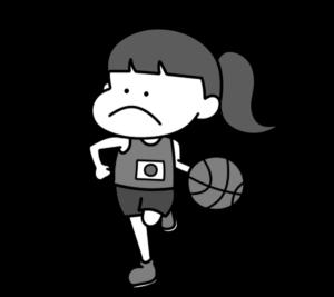 バスケットボール オリンピック日本代表 白黒フリー素材 女子
