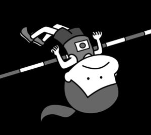 陸上 高跳び オリンピック日本代表 白黒フリー素材 女子