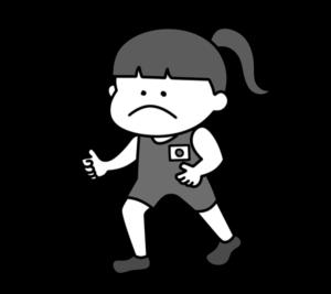 レスリング オリンピック日本代表 白黒フリー素材 女子