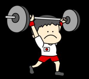 重量挙げ ウエイトリフティング オリンピック日本代表 フリー素材 男子