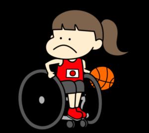 車椅子バスケットボール パラリンピック 日本代表 フリー素材 女子