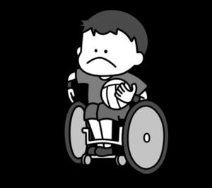 車椅子ラグビー パラリンピック 日本代表 白黒フリー素材 男子