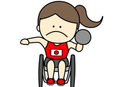 砲丸投げ パラリンピック 日本代表 フリー素材 女子