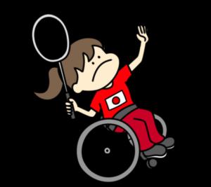 バドミントン パラリンピック 日本代表 フリー素材 女子