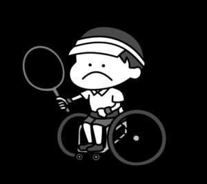 車椅子テニス パラリンピック 日本代表 白黒フリー素材 男子