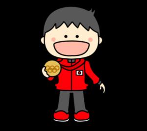 メダリスト オリンピック日本代表 フリー素材 男子 銅
