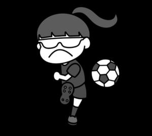 5人制サッカー パラリンピック 日本代表 白黒フリー素材 女子