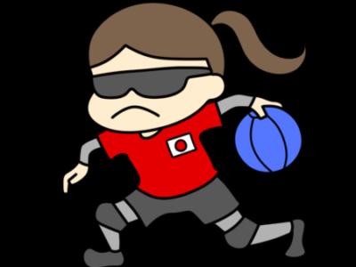 ゴールボール パラリンピック 日本代表 フリー素材 女子