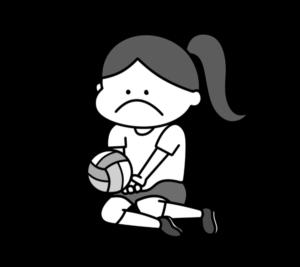 シッティングバレーボール パラリンピック 日本代表 白黒フリー素材 女子