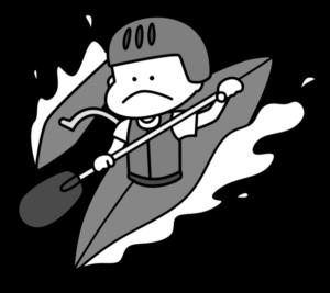 カヌー パラリンピック 日本代表 白黒フリー素材 男子