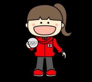メダリスト オリンピック日本代表 フリー素材 女子 銀