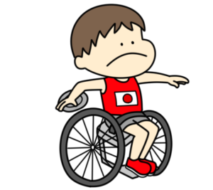 円盤投げ パラリンピック 日本代表 フリー素材 男子