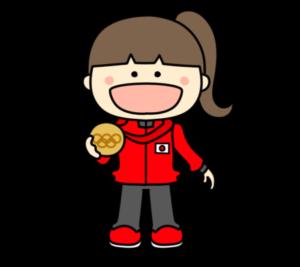 メダリスト オリンピック日本代表 フリー素材 女子 銅