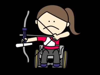 アーチェリー パラリンピック 日本代表 フリー素材 女子