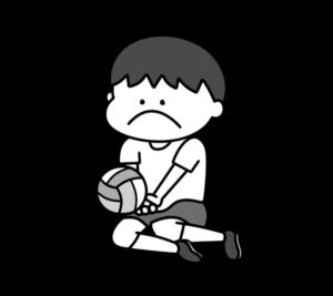 シッティングバレーボール パラリンピック 日本代表 白黒フリー素材 男子