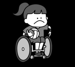 車椅子ラグビー パラリンピック 日本代表 白黒フリー素材 女子
