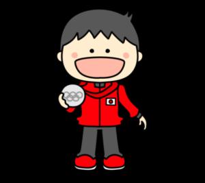 メダリスト オリンピック日本代表 フリー素材 男子 銀