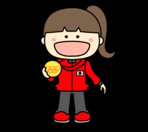 メダリスト オリンピック日本代表 フリー素材 女子 金